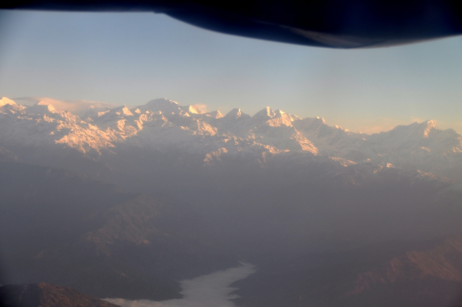 Panorama sulle vette dell'Himalaya
