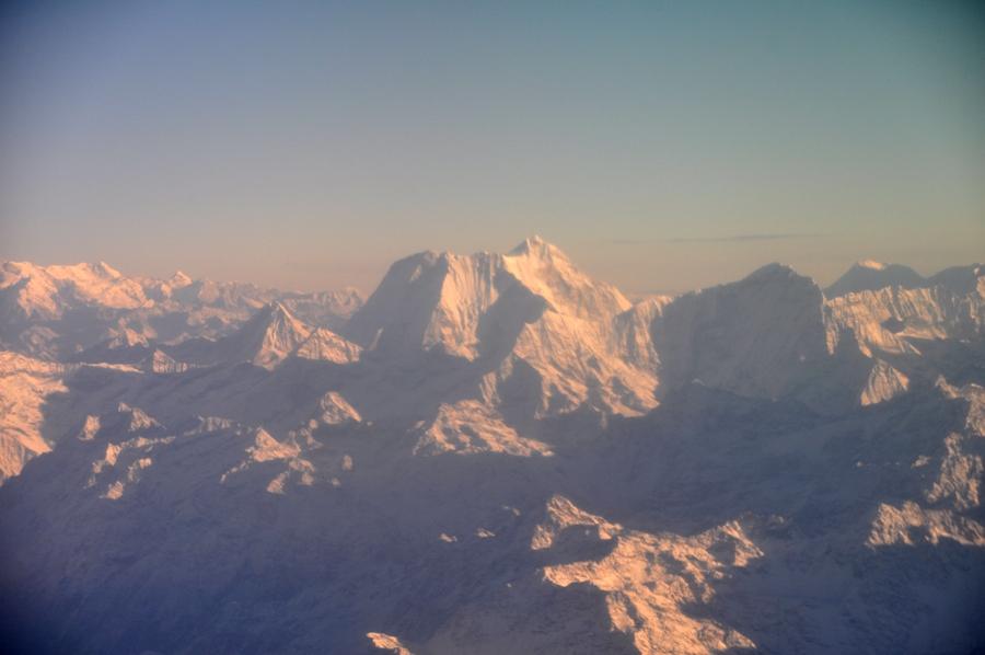 Volo sull'Himalaya Vette innevate