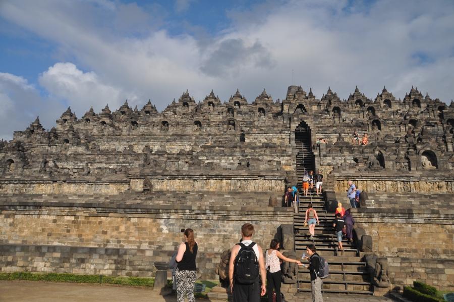 Arrivo a Borobudur
