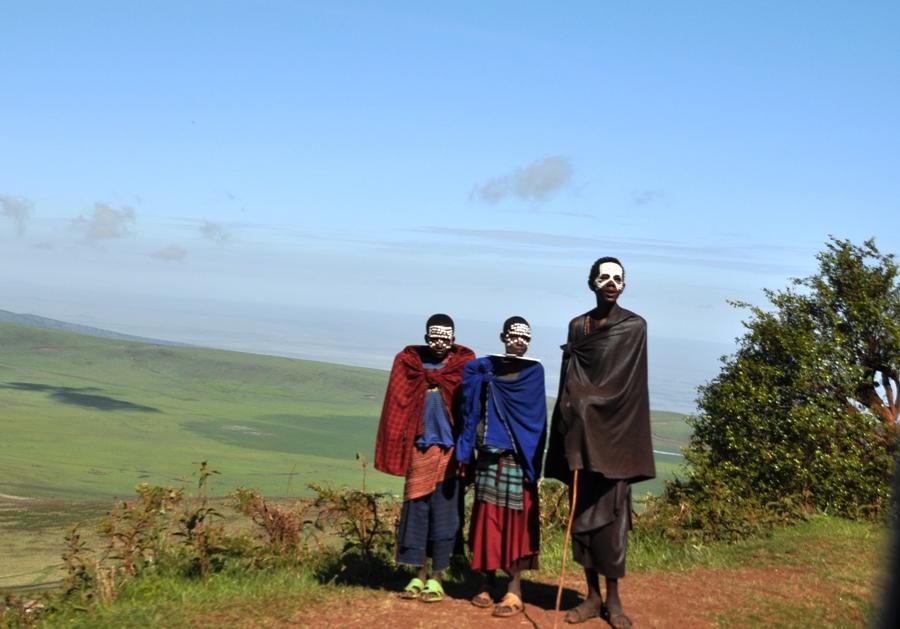 Masai nel Serengeti