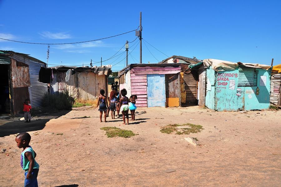Bambini nelle township