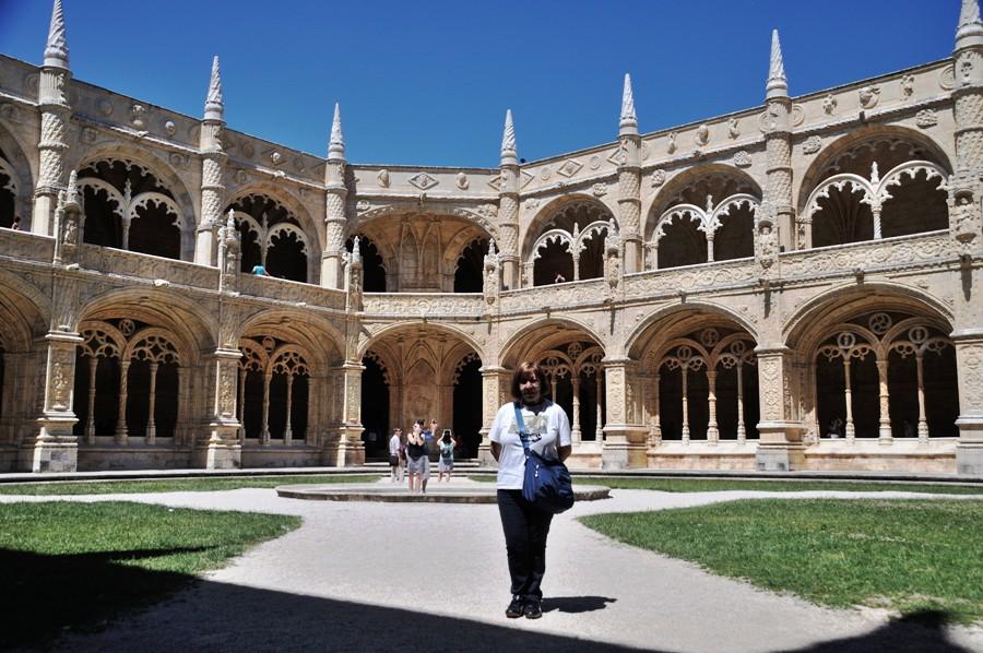 Chiostro del Monasterio de Los Jeronimos a Lisbona