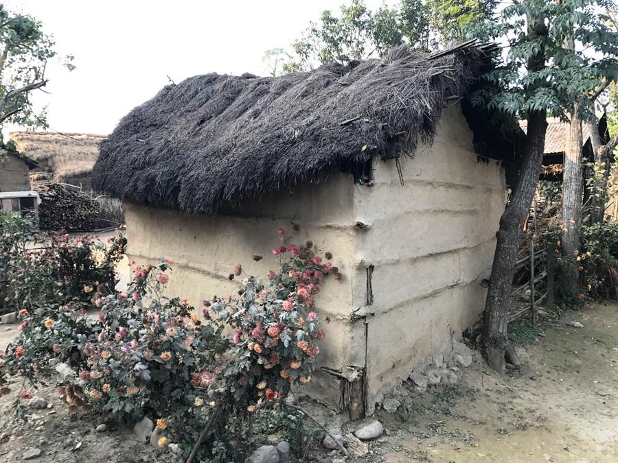 Chitwan Abitazione Tharu
