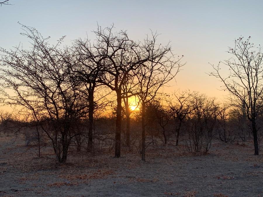 Tramonto in Botswana