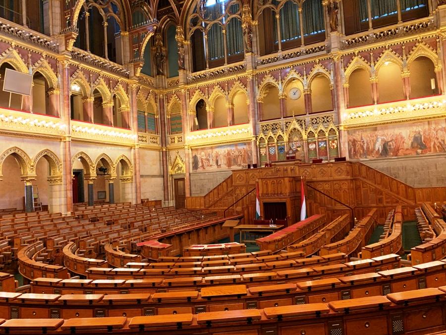 Sala del Parlamento di Budapest