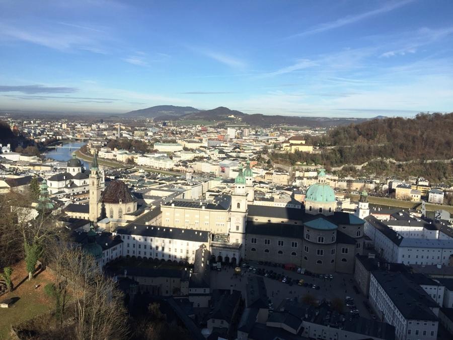 Vista di Salisburgo dall'alto