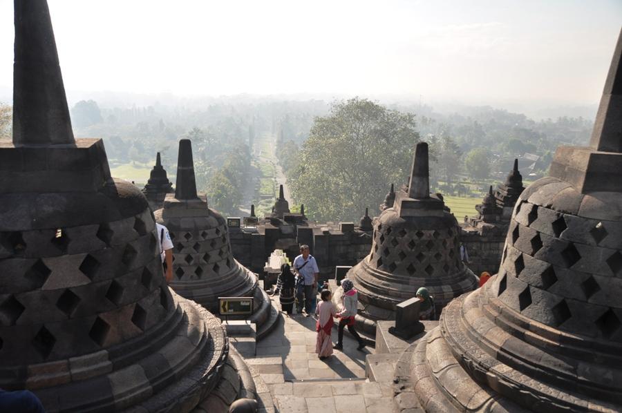 Panorama tra gli stupa