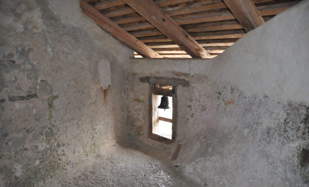Interno del castello di Predjama