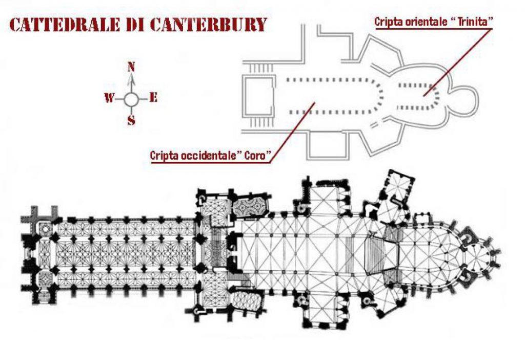 Pianta della Cattedrale di Canterbury