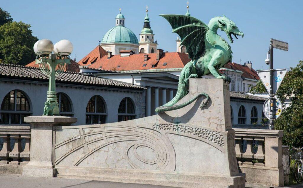 Il Ponte dei Draghi a Lubiana