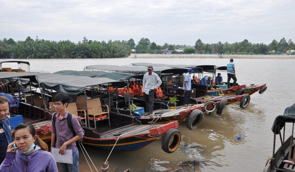 Barconi sul Delta del Mekong
