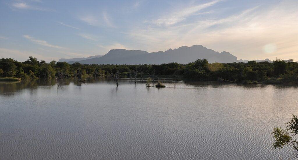 Lago nella riserva privata