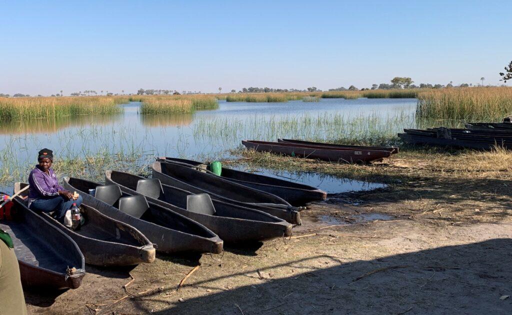 Sull'Okavango in mokoro