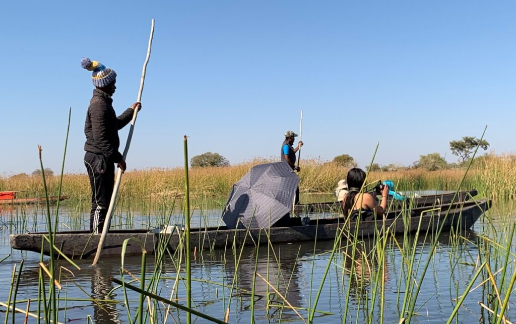 Navigazione sull'Okavango