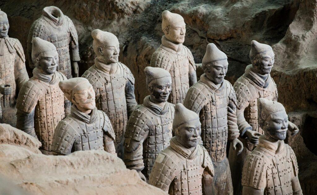Le statue dei guerrieri