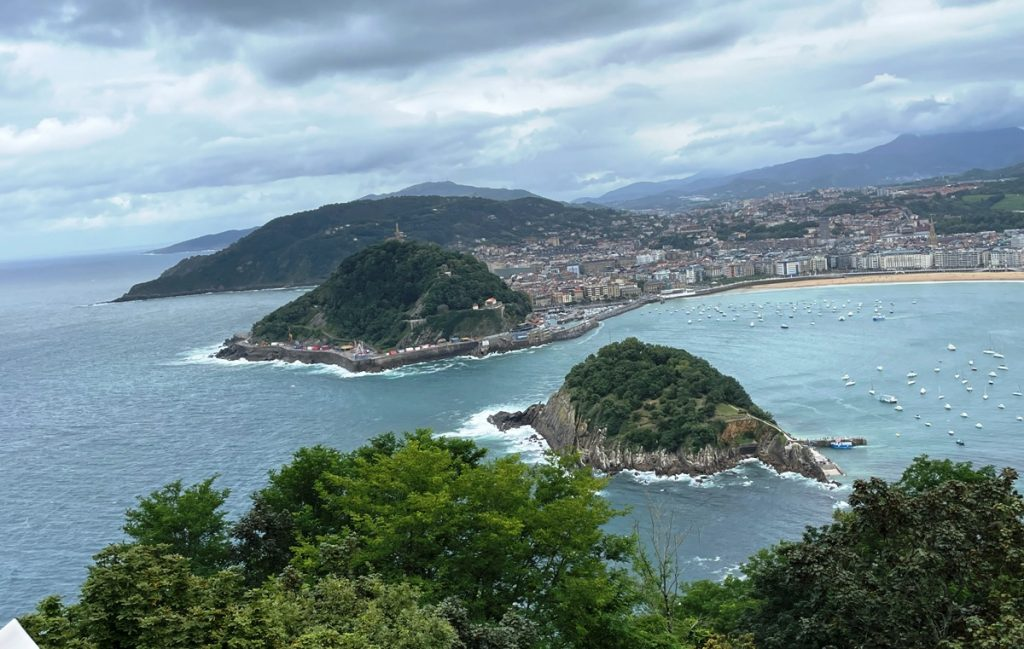 Panorama dal Monte Igeldo